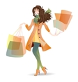 Shopping day girl in spring vector
