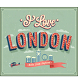 Vintage greeting card from london - england vector