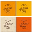 Set of vintage autumn designs vector