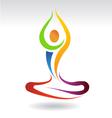 Yoga mental peace logo vector