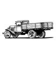 Vintage truck vector