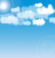 Blue sky with white cloud vector