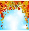 Autumnal sky bright design eps 8 vector