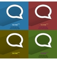 Color set cloud thoughts flat modern web button vector