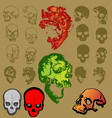 Skeleton nice color vector