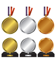 Three medals for the winners vector