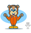 Jumpsuit bear vector