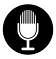 Microphone symbol button vector