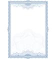 Classic guilloche border for diploma or certificat vector