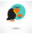 Cute raven cartoon waving vector