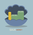 Save money on nacre concept vector