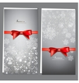 Elegant christmas invitation cards template vector