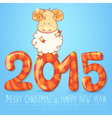 Winter chinese new year card with sheep vector