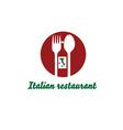 Italian restaurant design template vector