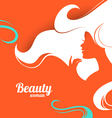 Beautiful fashion woman silhouette paper design vector