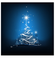 Beauty christmas tree from light background vector