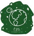 Earth drawn vector