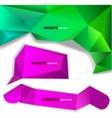 Abstract origami paper banner website element vector