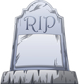 Rip grave vector