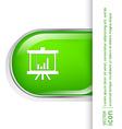 Presentation graphics business icon vector