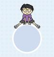 Boy jumping vector