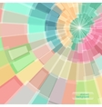 Abstract multicolor circle tunnel vector