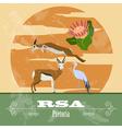 Rsa landmarks retro styled image vector