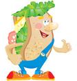 Sandwich cartoon vector