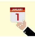 1st january calendar vector