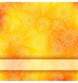 Bright invitation card with lace ornament vector