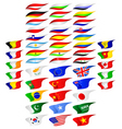 Different flags vector