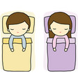 Sleeping boy and girl vector