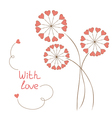 Romantic flowers vector