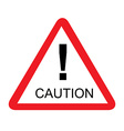 Road caution sign vector