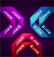 Infographics banner design template abstract vector