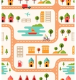City map seamless background pattern vector