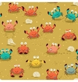 Seamless pattern with crabs vector