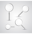 Magnifying glass set isolated on grey background vector