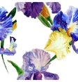 Seamless pattern with color irises1-03 vector
