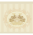 Wine label - hand drawn vineyard vector