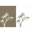 Grass silhouette nature vector