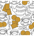 Tea and biscuit wallpaper vector