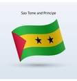 Sao tome and principe flag waving form vector