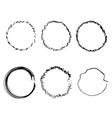 Handdrawn rings vector