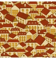 Seamless pattern town houses vector