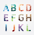 Alphabet modern color abstract style design vector