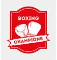 Boxing emblem vector