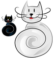 Happy cat cartoon vector