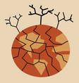 Dry crack earth vector