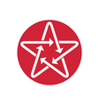 Star icon with arrows vector